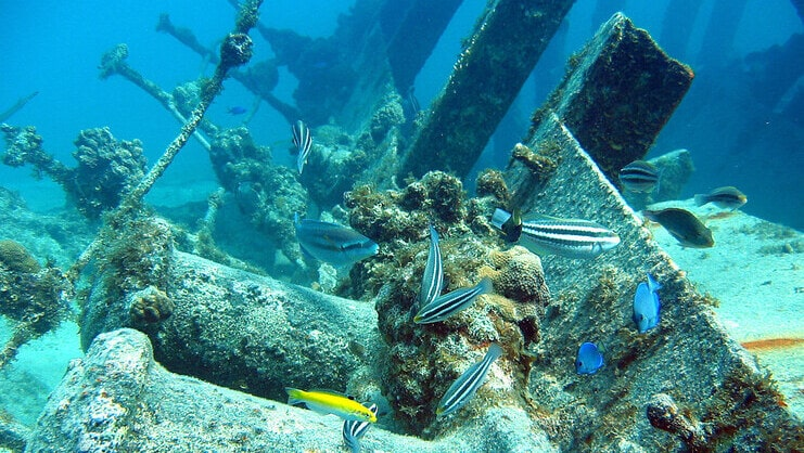 picture of shipwreck underwater