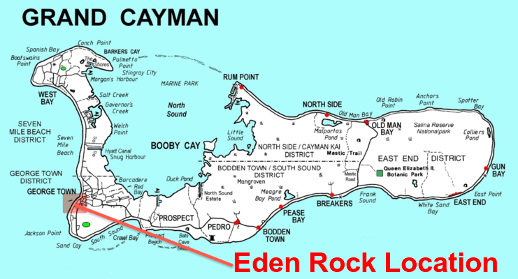 image of map showing location of eden rock