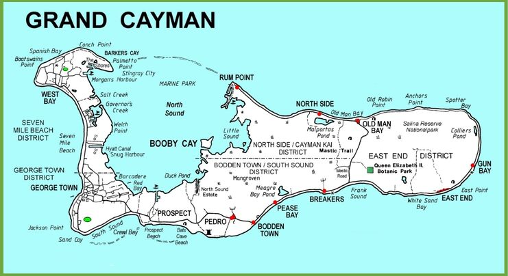 image of a map of grand cayman