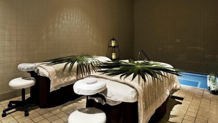 picture of two spa beds