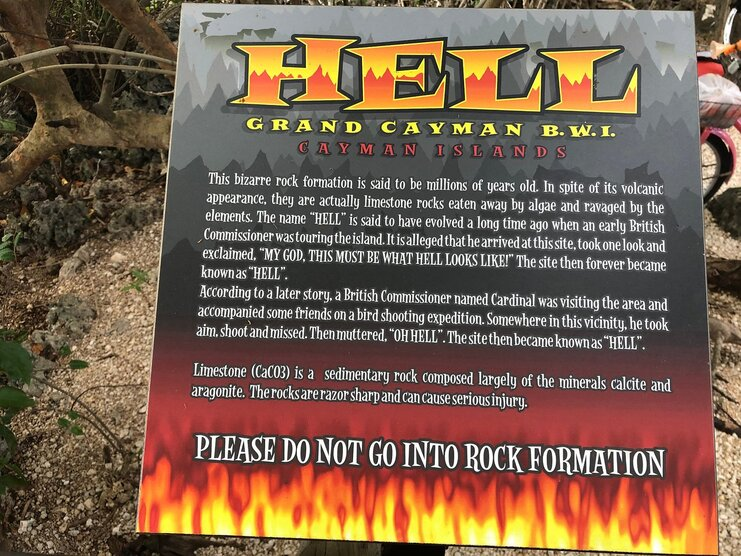 picture of a sign that explains why Hell is called Hell