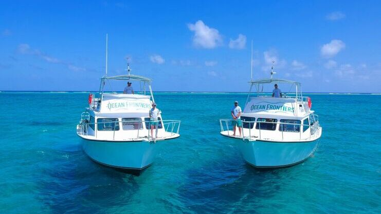 picture of two boats in the sea