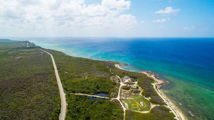 aerial image of grand cayman