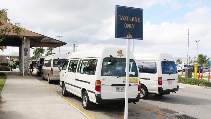 picture of taxis at airport